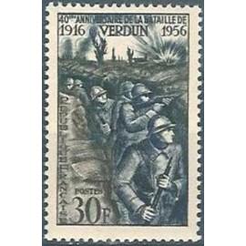 France num Yvert 1053 ** MNH Victoire de Verdun Année 1956