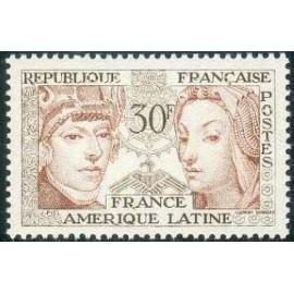 France num Yvert 1060 ** MNH France Amerique latine Année 1956