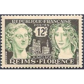 France num Yvert 1061 ** MNH Reims Florence Année 1956