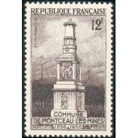 France num Yvert 1065 ** MNH Montceau les Mines Année 1956