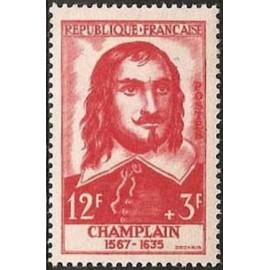 France num Yvert 1068 ** MNH Champlain Année 1956