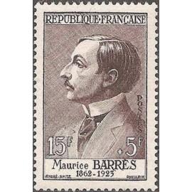 France num Yvert 1070 ** MNH Maurice Barres Année 1956