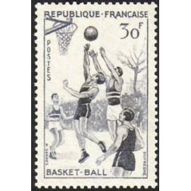 France num Yvert 1072 ** MNH Basket Ball Année 1956