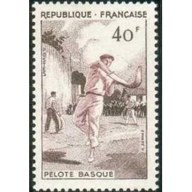 France num Yvert 1073 ** MNH Pelote Basque Année 1956