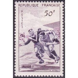 France num Yvert 1074 ** MNH Rugby Année 1956