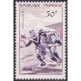 France num Yvert 1074 ** MNH Rugby Année 1956