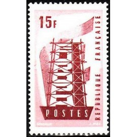 France num Yvert 1076 ** MNH Europa  Année 1956