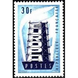 France num Yvert 1077 ** MNH Europa  Année 1956