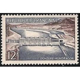 France num Yvert 1078 ** MNH barrage Donzere Année 1956