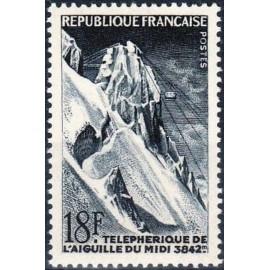 France num Yvert 1079 ** MNH teleherique Midi Année 1956