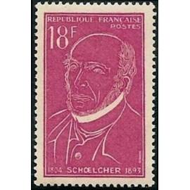 France num Yvert 1092 ** MNH Schoelcher Année 1957