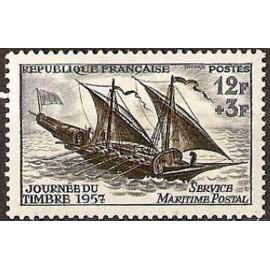 France num Yvert 1093 ** MNH Journee du timbre Année 1957
