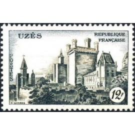 France num Yvert 1099 ** MNH Château d ' Uzes Année 1957