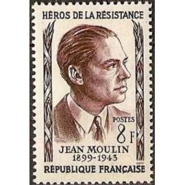 France num Yvert 1100 ** MNH Resistance Jean Moulin Année 1957