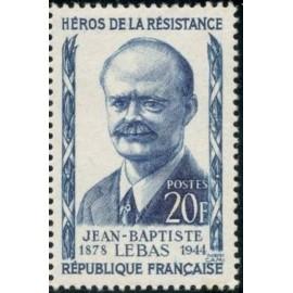 France num Yvert 1104 ** MNH Resistance Lebas Année 1957