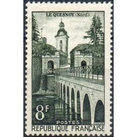 France num Yvert 1105 ** MNH Vauban Pont Année 1957