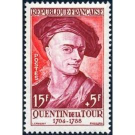 France num Yvert 1110 ** MNH Quentin De La Tour Année 1957