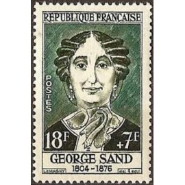 France num Yvert 1112 ** MNH George Sand Année 1957