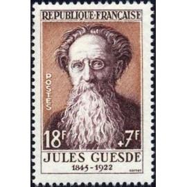 France num Yvert 1113 ** MNH Jules Guesde Année 1957