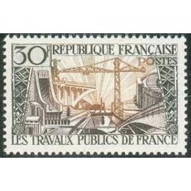 France num Yvert 1114 ** MNH Travaux public Année 1957