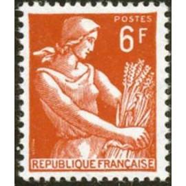 France num Yvert 1115 ** MNH Moissonneuse blé Année 1957