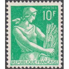 France num Yvert 1115A ** MNH Moissonneuse blé Année 1957