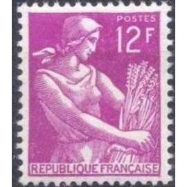 France num Yvert 1116 ** MNH Moissonneuse blé Année 1957