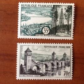 France num Yvert 1118-1119 ** MNH Serie Touristique Année 1957