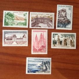 France num Yvert 1125-1131 ** MNH Serie Touristique Année 1957