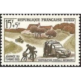 France num Yvert 1151 ** MNH 2 cv citroen Année 1958
