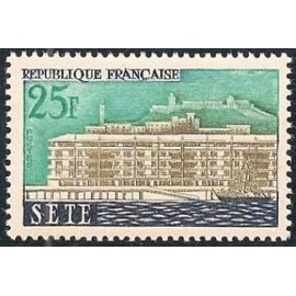 France num Yvert 1155 ** MNH Sete herault Année 1958