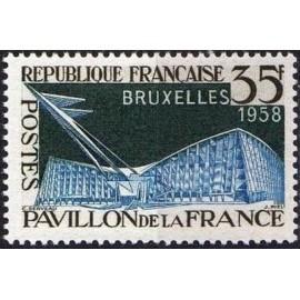 France num Yvert 1156 ** MNH Exposition Bruxelles Année 1958