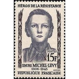 France num Yvert 1159 ** MNH Resistance Michel levy Année 1958
