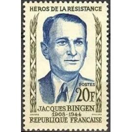 France num Yvert 1160 ** MNH Resistance Bingen Année 1958