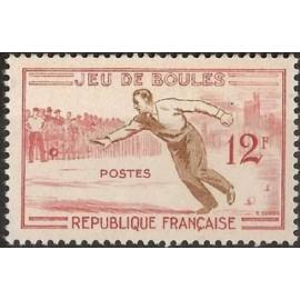 France num Yvert 1161 ** MNH Boule petanque Année 1958