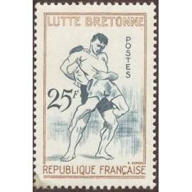 France num Yvert 1164 ** MNH Lutte bretagne Année 1958