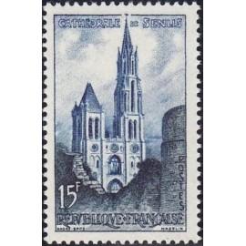 France num Yvert 1165 ** MNH Cathedrale de Senlis Année 1958