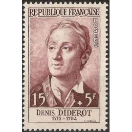 France num Yvert 1168 ** MNH Denis Diderot Année 1958