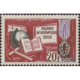 France num Yvert 1190 ** MNH Palmes académiques Année 1959