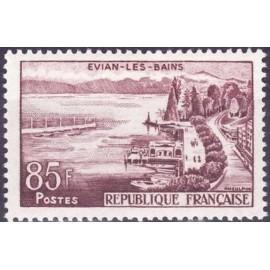France num Yvert 1193 ** MNH Evian les bains Année 1959