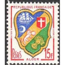 France num Yvert 1195 ** MNH Blason d'Alger Année 1959