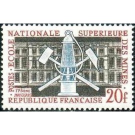 France num Yvert 1197 ** MNH Ecole des Mines Paris Année 1959
