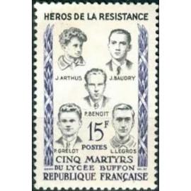 France num Yvert 1198 ** MNH Resistance  Année 1959