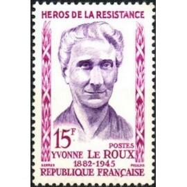 France num Yvert 1199 ** MNH Resistance Le Roux Année 1959
