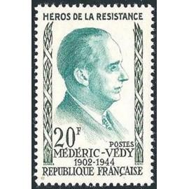 France num Yvert 1200 ** MNH Resistance Vedy Année 1959