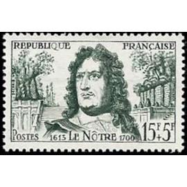France num Yvert 1208 ** MNH André Le Notre  Année 1959