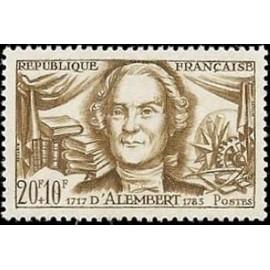 France num Yvert 1209 ** MNH Alembert jean Année 1959