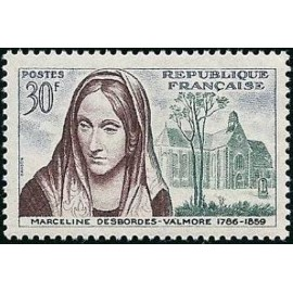 France num Yvert 1214 ** MNH Desbordes Valmore Année 1959
