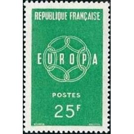 France num Yvert 1218 ** MNH Europa  Année 1959