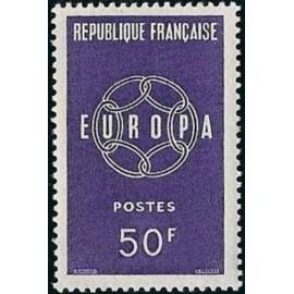 France num Yvert 1219 ** MNH Europa  Année 1959